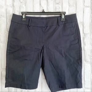 Ann Taylor Boardwalk Navy Blue Casual Shorts sz 8